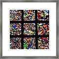 Fractured Squares Framed Print by Meandering Photography