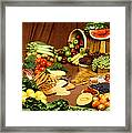 Fruit And Grain Food Group Framed Print by Photo Researchers