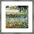 Garden In Bloom Framed Print by Vincent Van Gogh