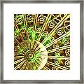 Green And Gold Framed Print by Caryn Schulenberg