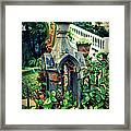 Iron Fence Detail Framed Print by Perry Webster