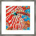 Lion Fish Face Framed Print by Daniel Jean-Baptiste