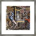 Lovejoys Printing Press Framed Print by Granger