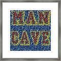 Man Cave Bottle Cap Mosaic Framed Print by Paul Van Scott