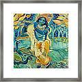 My Krishna Is Blue Framed Print by Ashleigh Dyan Bayer