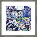 Neptune Rides The Sea Framed Print by Carol Law Conklin