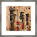 Old Tools On Rusty Counter  Framed Print by Garry Gay