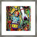 Painted Box Full Of Old Toys Framed Print by Garry Gay
