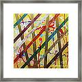 Party - Stripes 2 Framed Print by Mordecai Colodner