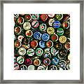Pile Of Beer Bottle Caps . 9 To 12 Proportion Framed Print by Wingsdomain Art and Photography