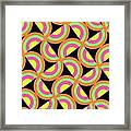 Psychedelic Squares Framed Print by Louisa Knight
