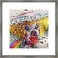 Rainy Day Clown Framed Print by Steve Ohlsen