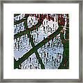 Red Crystal Refletcion Framed Print by Garry Gay