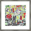 Riomaggiore Italy Moucasso Painting Framed Print by Ginette Callaway