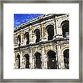 Roman Arena In Nimes France Framed Print by Elena Elisseeva