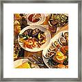 Seafood And Steak Buffet Dinners Framed Print by Vance Fox