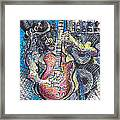 Slash Distortion  Framed Print by Jon Baldwin  Art