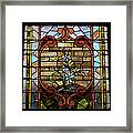 Stained Glass Lc 18 Framed Print by Thomas Woolworth