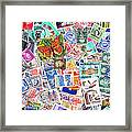 Stamp Collection . 2 To 1 Proportion Framed Print by Wingsdomain Art and Photography
