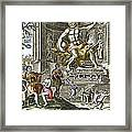 Statue Of Zeus In Ancient Olympia Framed Print by Sheila Terry