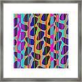 Stripe Beans Framed Print by Louisa Knight