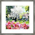 The Claude Monet Small House Framed Print by Tamyra Ayles