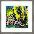 The Day Of The Triffids, British Poster Framed Print by Everett
