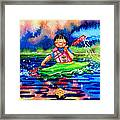 The Kayak Racer 11 Framed Print by Hanne Lore Koehler