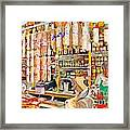 The Local Deli Framed Print by Wingsdomain Art and Photography