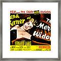 The Merry Widow, Lana Turner, 1952 Framed Print by Everett
