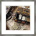 Treasure Box With Old Pistol Framed Print by Garry Gay