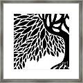 Tree Graphic Framed Print by HD Connelly