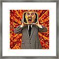 Tv Man Framed Print by Garry Gay