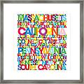 United States Usa Text Bus Blind Framed Print by Michael Tompsett