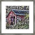 Us61 Barn Framed Print by Georgeann  Chambers