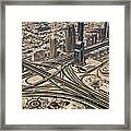 View Of Burj Khalifa Framed Print by Luc V. de Zeeuw