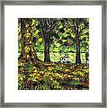 Walk In The Park Framed Print by John  Nolan