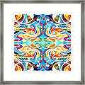 Red Indian Framed Print by Ky Wilms