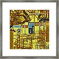 Microprocessor Framed Print by Michael W. Davidson