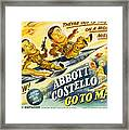 Abbott And Costello Go To Mars, Bud Framed Print by Everett