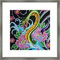 Angry Snake Framed Print by Kev G