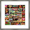 Atx Restaraunt Montage Framed Print by Andrew Nourse
