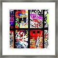 Barcelona Doors ... All Graffiti Framed Print by Funkpix Photo Hunter
