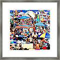 Beach Chaos Framed Print by Diana Angstadt