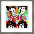 Beatles Pop Art Framed Print by Jim Zahniser