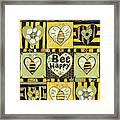 Bee Happy Framed Print by Jen Norton
