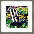 Big Old Chair Evening Light Framed Print by David Lloyd Glover
