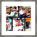 Biking In Barcelona Framed Print by Funkpix Photo Hunter