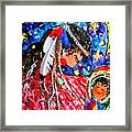 Cherokee Trail Of Tears Mother And Child Framed Print by Laura  Grisham