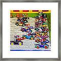 Clown Car Racing Game Framed Print by Garry Gay